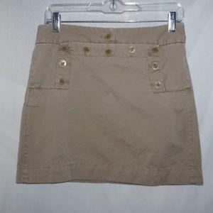 J Crew Khaki corset tie sailor skirt khaki 80878